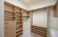 Walk-in closets and many storage areas.