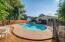 Huge pool with cool deck concrete