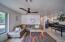 Living room with newer luxury vinyl floors