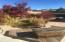 sitting area at koi pond