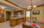 Spacious Kitchen/Dining combination with breakfast bar.