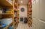 Wonderful pantry with ample shelving.