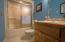 Full bath in basement.