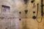 Master bathroom oversized walk-in shower.