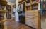 Master bedroom enormous walk in closet