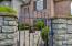 Wrought iron gate to courtyard