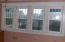 Upstairs bedroom array of windows