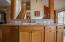 Open kitchen - living room design.