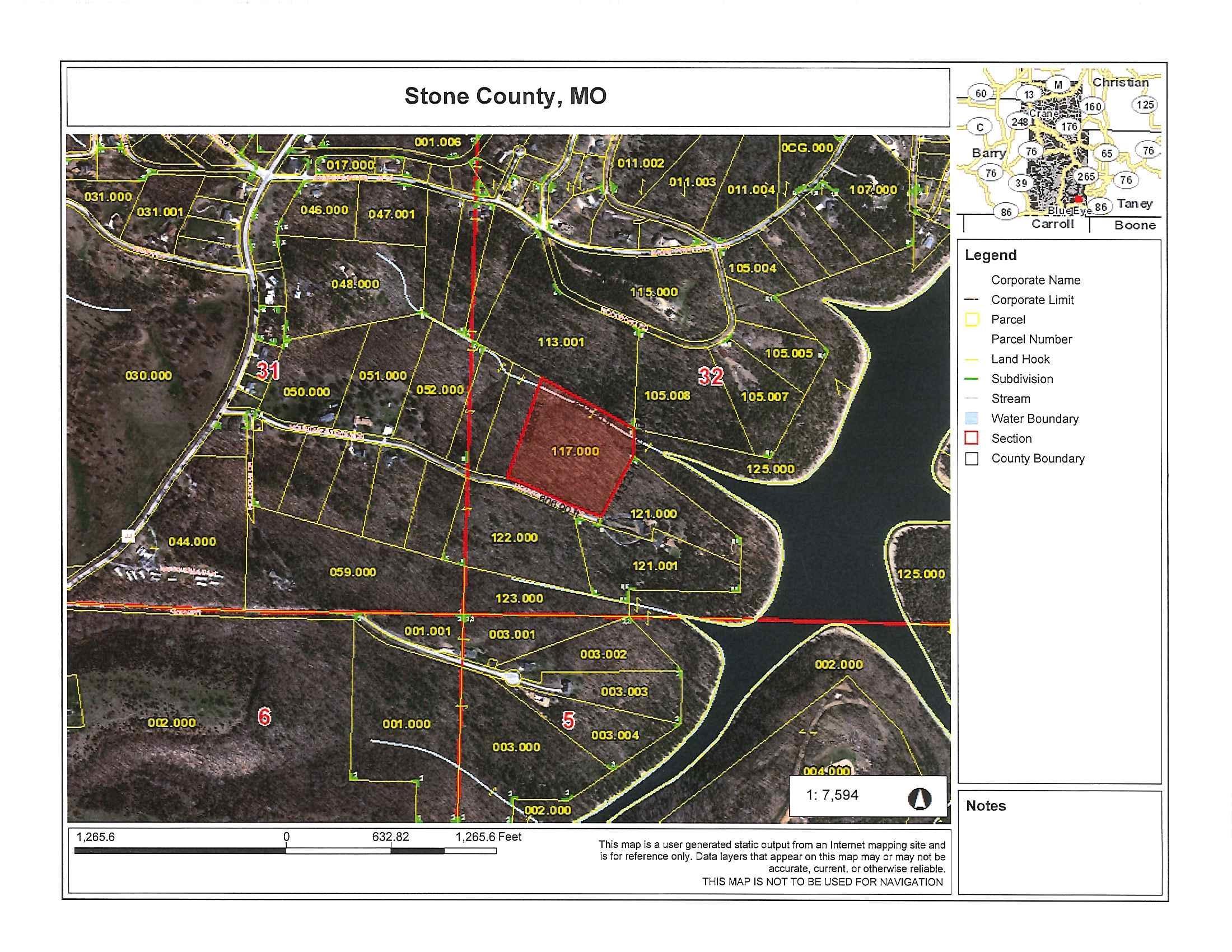 Lots 11-13 Mountain Estate Drive Blue Eye, MO 65611