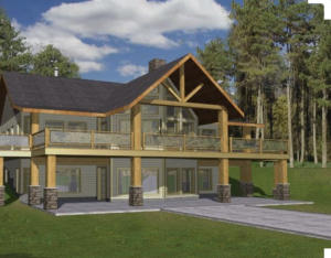 This is a simulated plan of what the current builder had in mind as a finished lodge look home.