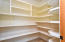 Huge pantry with tons of shelving