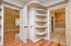 Absolutely massive walk-in closet with built-ins. Door inside closet is second water heater dedicated to master suite.