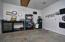 Enclosed workshop off garage