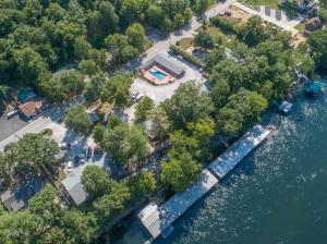 Trout Hollow Lodge and Marina aerial view