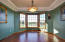Formal dining room or make this office/den or convert to bedroom!