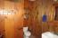 Hall bathroom on the main floor