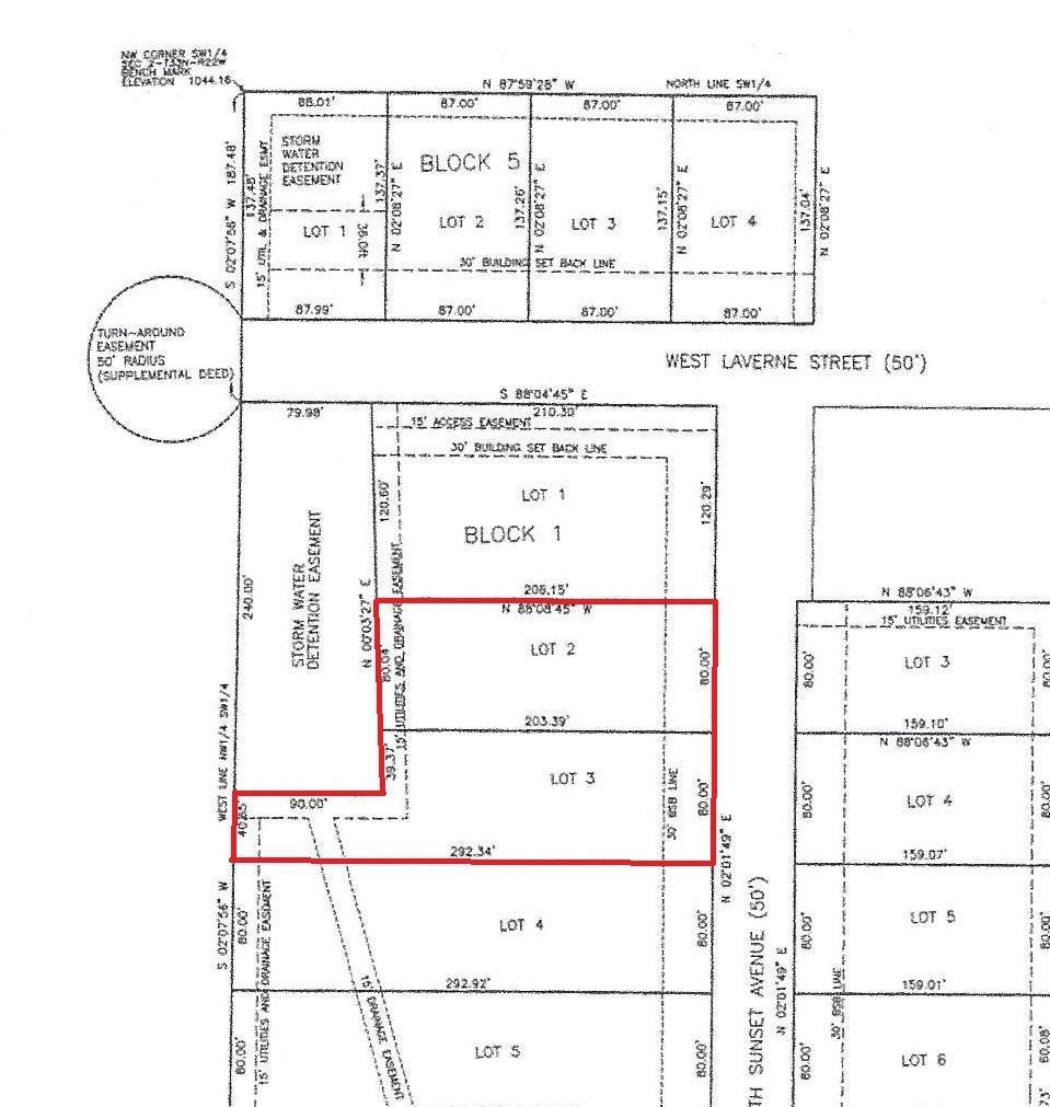 Lots 2&3 Block 1 Russel Subdivision