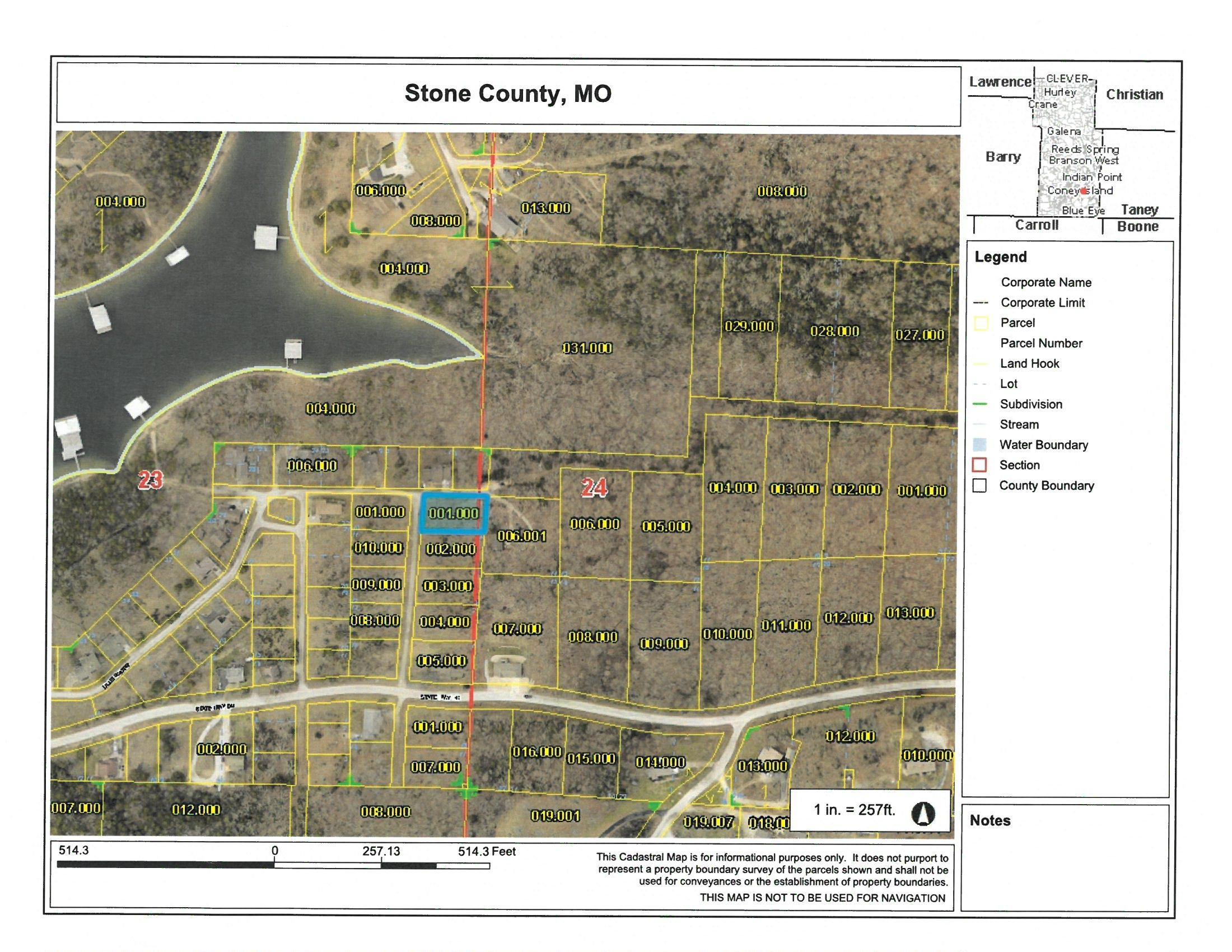 Lot 5 Blue Water Village Reeds Spring, MO 65737