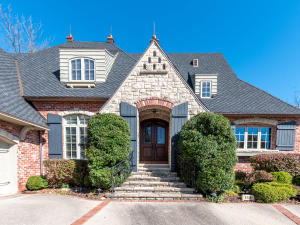 Entrance to amazing home with 150 year old brick and handcut stone