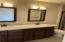 Master Bath with double sink vanity with granite top
