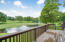 Main Level deck overlooks golf course & water feature