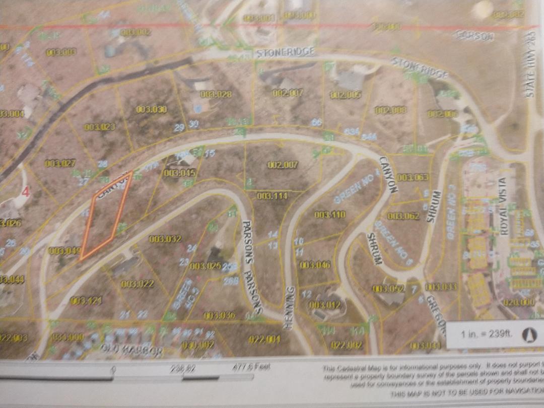 000 Canyon Parkway UNIT (Lot 18)-.57 Acres Branson, MO 65616
