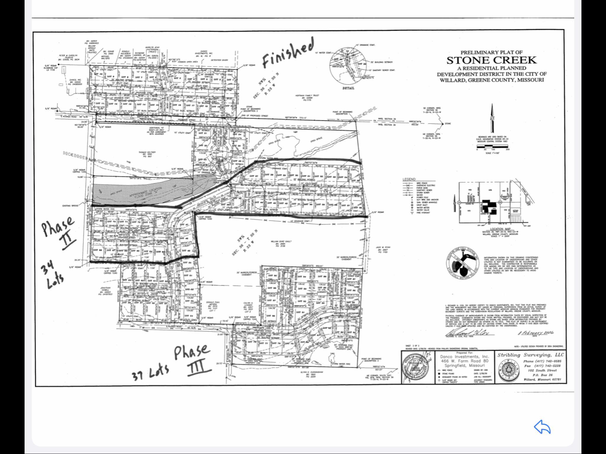 Phase 2&3 Stone Creek Sub Willard, MO 65781
