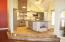 HUGE KITCHEN ISLAND WITH DRAWERS & STORAGE ON BOTH SIDES.