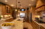Knotty Alder cabinets and granite countertops.