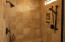 Shower in the master bath.