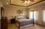 Spacious master bedroom.