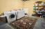 Large unfinished laundry/utility room