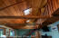 Beautiful wood beams and skylights