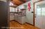 Kitchen with back door to deck