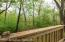 Secluded back deck