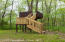 Treehouse with swings underneath