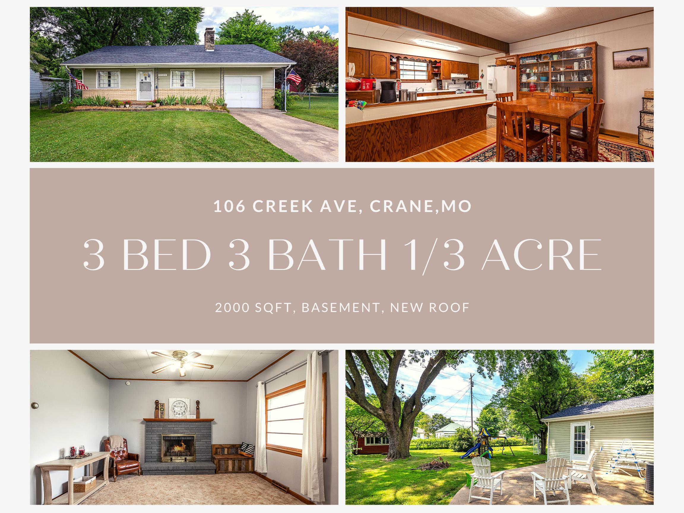 106 Creek Avenue Crane, MO 65633