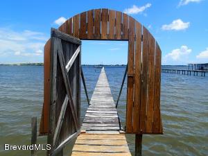 Secured entrance to dock.