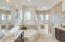 Master Spa Bath with Jetted Tub, Double Vanities and Walk in Shower