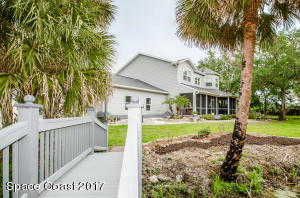 Natural landscaping and custom details