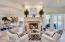 Florida Luxury Living....stone fireplace