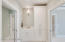 Bright bathrooms with ample storage....