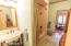 Jack-n-Jill Bathroom with New Vanity & Spacious Linen Closet
