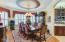 Formal Dining Room with Alabaster Chandelier and Sconces