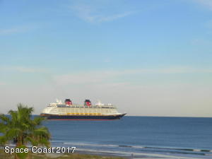 THIS PHOTO TAKEN FROM THE BALCONY AS THE DISNEY SHIP DEPARTS PORT CANAVERAL.