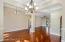 13 foot ceilings in dining area