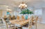 Spacious dining room with domed ceiling and ocean views...