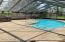 Screen Enclosed Pool & Hot Tub