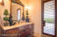 Guest Bathroom with pool access and outdoor shower!