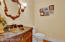 Powder Bath off Dining and Kitchen Area -